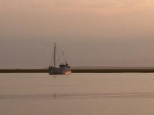 Trawler at Sunset 3