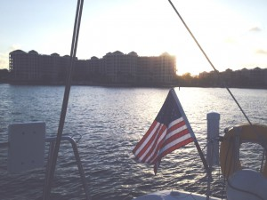 Lake Boca Sunset and Old Glory